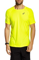 Asics Crew Neck Motion Dry Tee Yellow