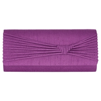 Jacques Vert Woven Detail Clutch Bag Bright Purple
