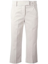 Dondup Cropped Trousers Nude Neutrals