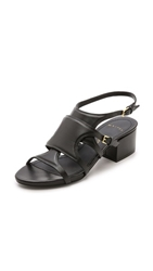 Maiyet Lucy Mid Heel Sandals Black