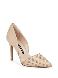 French Connection Elvia Leather D'orsay Pumps Almost Nude