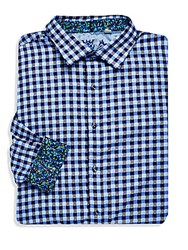 Robert Graham Dartmoor Checkered Button Down Shirt Blue