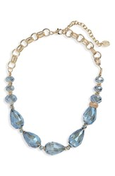 Stella Ruby And Chunky Stone Necklace Gold Blue