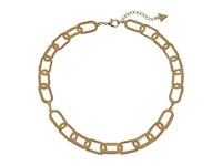 Guess Oval Link Collar Necklace Gold Necklace