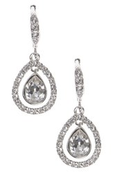 Givenchy Women's Crystal Drop Earrings Silver