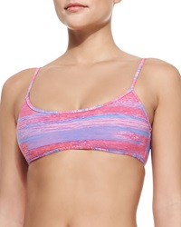 Marc By Marc Jacobs Sam Striped Balconette Bikini Top