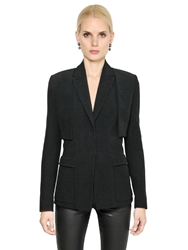 Givenchy Double Crepe Vest And Bolero Jacket Black