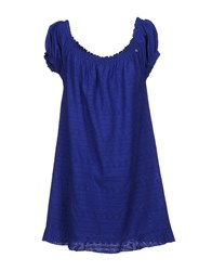 Yes Zee By Essenza Short Dresses Bright Blue