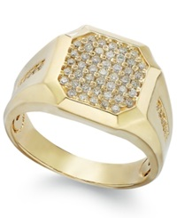Effy Collection Gento By Effy Men's Diamond Cluster Ring In 14K Gold 1 2 Ct. T.W. Yellow Gold