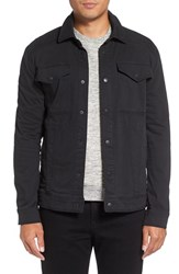 Michael Stars Men's Shirt Jacket Black
