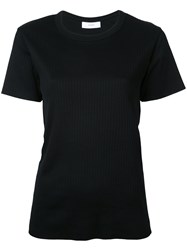 Astraet Ribbed T Shirt Women Cotton One Size Black