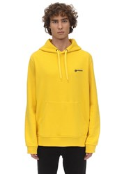 Burberry Logo Embroidered Jersey Hoodie Canary Yellow