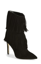 Women's Sam Edelman 'Belinda' Fringed Suede Pointy Toe Boot Black