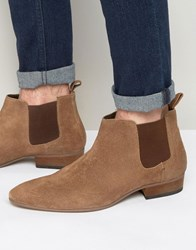 Kg By Kurt Geiger Ankle Chelsea Boots In Tan Suede Tan