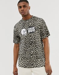 Cheap Monday Leopard Print T Shirt Beige