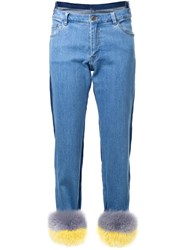 Muveil Skinny Contrast Jeans Blue