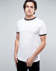 New Look Ringer T Shirt In White White