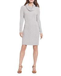 Ralph Lauren Petites Cowlneck Sweater Dress Scandinavian Gray Heather