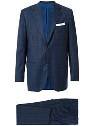 Kiton Two Piece Check Formal Suit 60