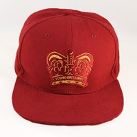 Wears London Red And Gold Crown Snap Back