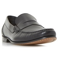 Bertie Primus Leather Penny Loafers Black