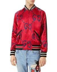 Guccighost Bomber Jacket Red