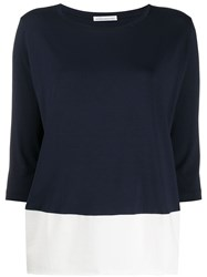 Stefano Mortari Two Tone Three Quarter Sleeve Top 60