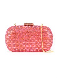 Serpui Embellished Clutch Bag Pink And Purple