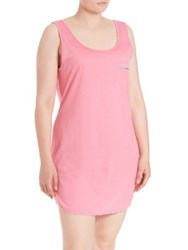 Cosabella Plus Size Bella Tank Dress Canyon Pink Blue Med Blue Med Canyon Pink