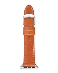 Michele 38Mm Leather Strap For Apple Watch Luggage