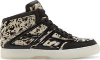 Alejandro Ingelmo Black And White Calf Hair Tron Sneakers