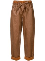 Nehera Paron Coated Trousers Brown