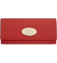 Mulberry Plaque Grained Leather Continental Wallet Fiery Spritz