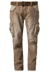 Schott Nyc Army Cargo Trousers Tobacco Camel