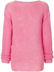 Ermanno Scervino Casual Knit Jumper Cashmere Pink Purple
