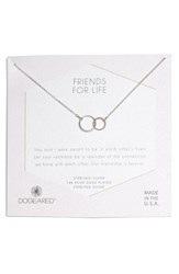 Dogeared Friends For Life Necklace Silver