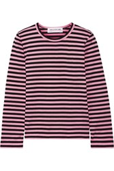Comme Des Garcons Girl Striped Cotton Jersey Top Baby Pink