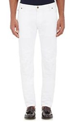 Michael Bastian Carpenter Moto Jeans White