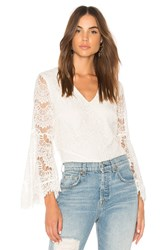 Minkpink Tainted Love Lace Blouse White