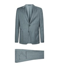 Zegna Wool Two Piece Suit Grey