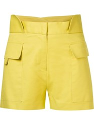 Giuliana Romanno Mid Rise Shorts Yellow And Orange
