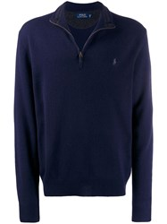 Polo Ralph Lauren Half Zipped Jumper Blue