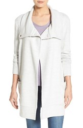Caslonr Women's Caslon Convertible Collar Sweater Coat Heather Light Grey