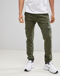 Voi Jeans Cuffed Cargo Pants In Tapered Fit White