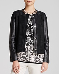 Weekend Max Mara Jacket Enea Leather Black