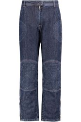 J.W.Anderson Mid Rise Paneled Straight Leg Jeans Blue
