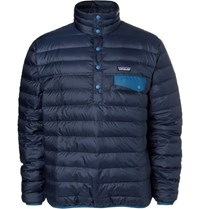 Patagonia Snap T Quilted Dwr Coated Ripstop Shell Down Pullover Navy