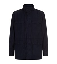Boss Orange Lightweight Funnel Neck Jacket Navy
