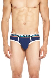 Andrew Christian Men's 'Almost Naked Sports' Briefs Navy