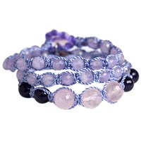 Soul Journey Jewelry Infinite Love And Peace Wrap Bracelet Lavender